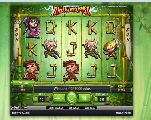 Thunderfist spilleautomat